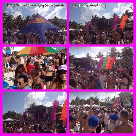 the massive annual Miami Beach Gay Pride celebration that comes